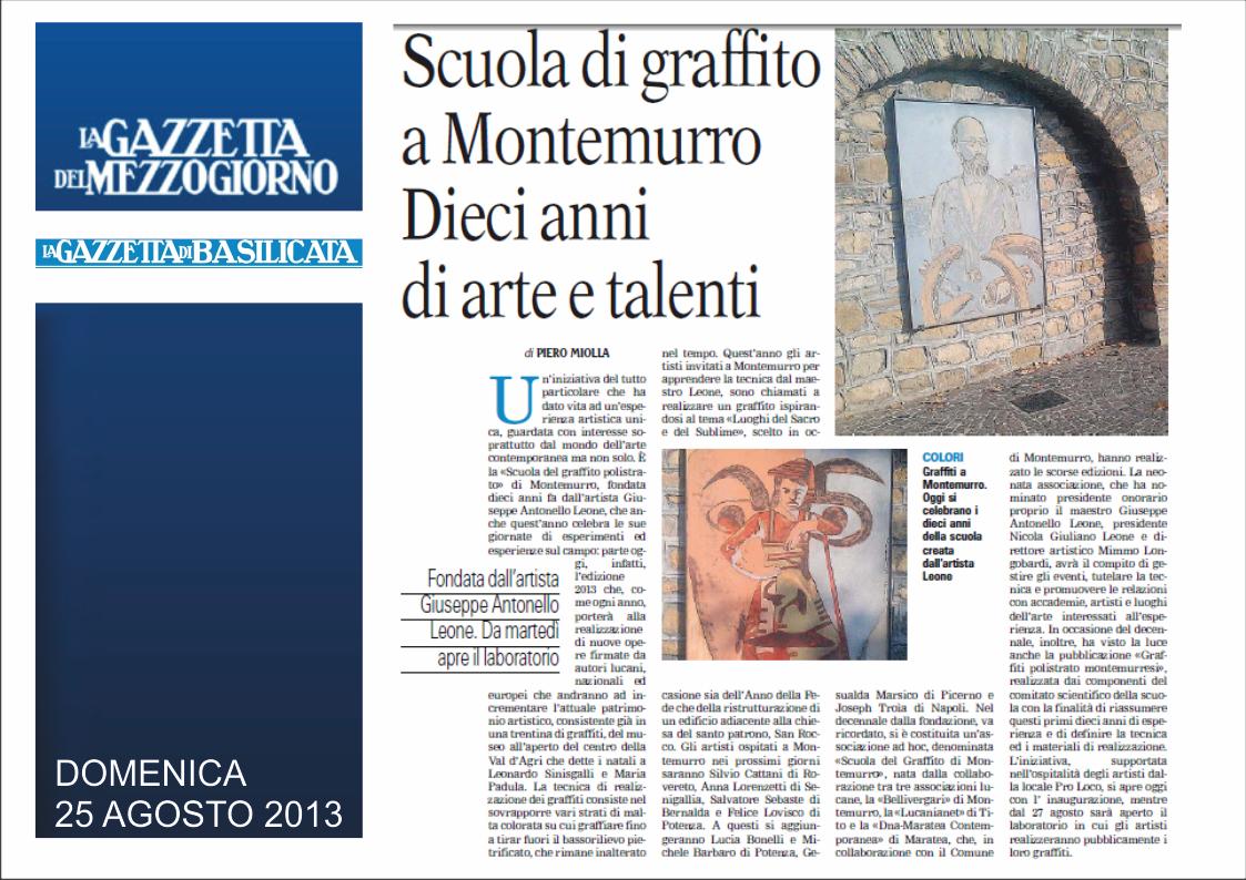 Gazzetta 25 agosto 2013