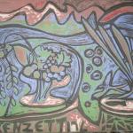 Anna Lorenzetti – Natura morta con paesaggio